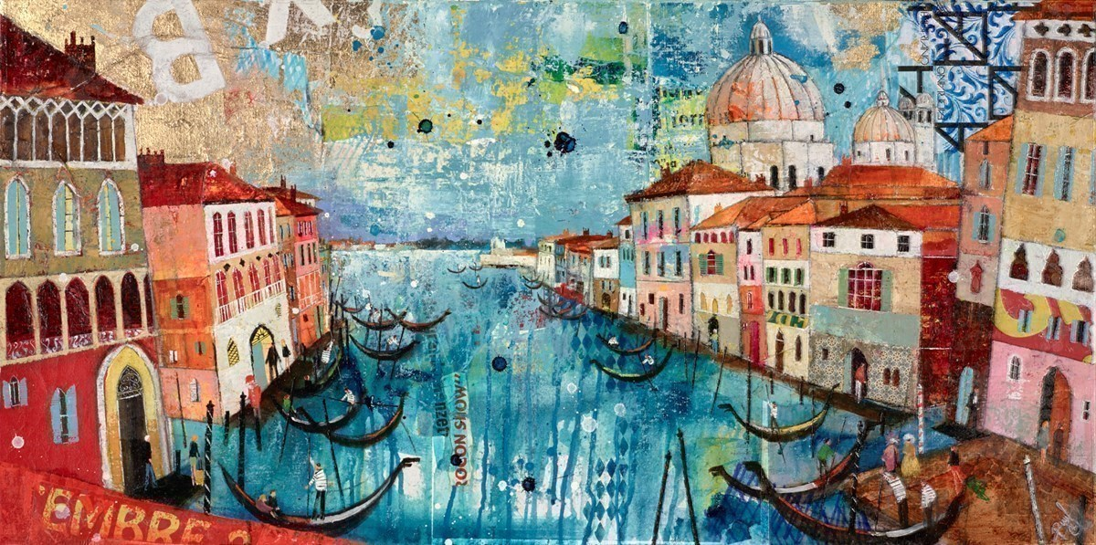 Venice Life by Richard Burel -  sized 39x20 inches. Available from Whitewall Galleries